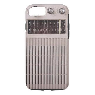 Vintage White And Brown Metal Radio iPhone 7 Case