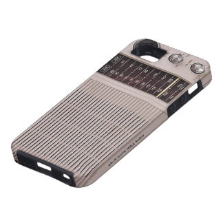 Vintage White And Brown Metal Radio iPhone SE/5/5s Case
