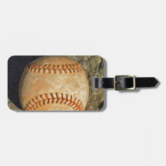 Vintage White Baseball red stitching Tags For Luggage