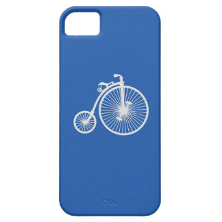 Vintage White Bicycle on Blue iPhone5 Case