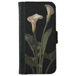 Vintage White Calla Lilies iPhone 6 Wallet Case