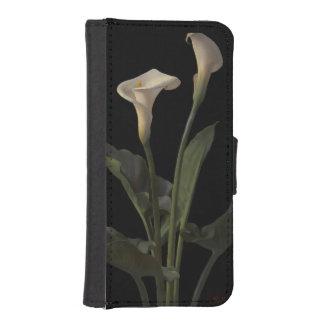 Vintage White Calla Lilies iPhone SE/5/5s Wallet
