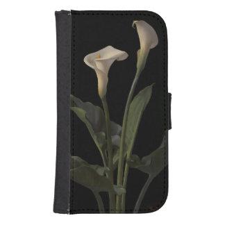 Vintage White Calla Lilies Galaxy S4 Wallets