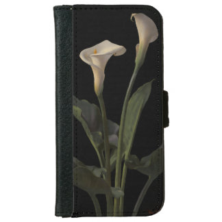 Vintage White Calla Lilies Wallet Phone Case For iPhone 6/6s