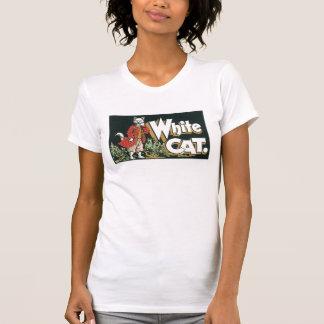 Vintage White Cat Cigar Label Art Tee Shirts