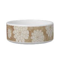Vintage White Dahlia Floral Wedding Bowl