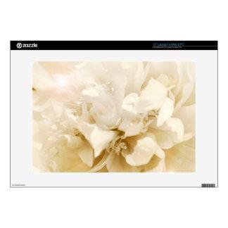 Vintage White Dahlia Flower Floral Photo Skin For Laptop