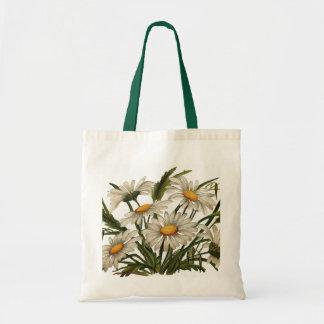 Vintage - White Daisies Tote Bag