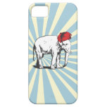 Vintage White Elephant Wearing a red Turban iPhone 5 Covers