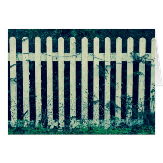 Vintage White Fence Card