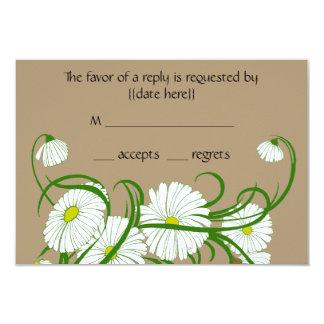 Vintage White Gerber Daisy Flowers Wedding Set Custom Announcements