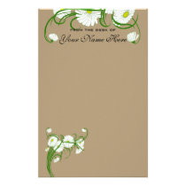 Vintage White Gerber Daisy Flowers Wedding Set Stationery