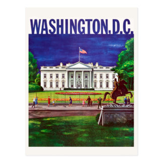 Vintage White House Washington DC Travel Postcard