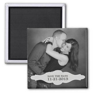 Vintage White LaBon Vie Photo Save the Date Magnet