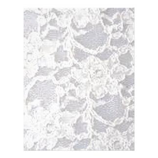 Vintage White Lace Letterhead