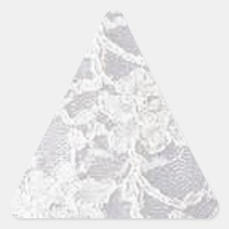 Vintage White Lace Triangle Sticker