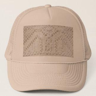 Vintage white lace trucker hat