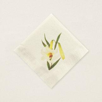 Vintage White lilly Napkins