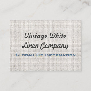 White linen business cards oxynux white linen business cards zazzle reheart Image collections