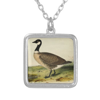 Vintage White Necked Goose Necklace