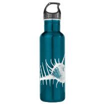Vintage White Ocean Seahell Beach Stainless Steel Water Bottle