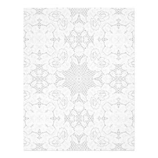Vintage White On White Lace Letterhead Stationery