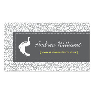 Vintage White Peacock Logo - Designer, Stylist Business Cards