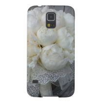Vintage White Peonies Bridal Bouquet Case For Galaxy S5