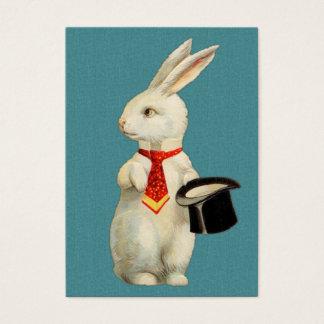 Vintage White Rabbit Business Card
