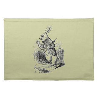 Vintage White Rabbit Cloth Placemat