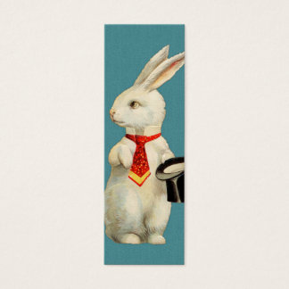 Vintage White Rabbit Mini Business Card
