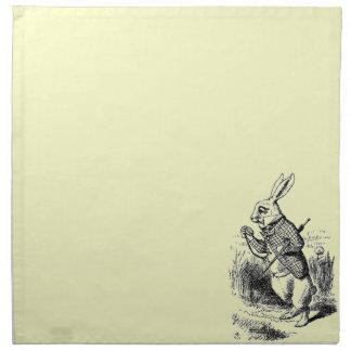 Vintage White Rabbit Napkin