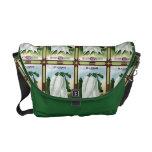 Vintage White Radishes Seed Packet Messenger Bag