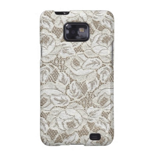 Vintage White Rose Lace Samsung Galaxy S2 Cover