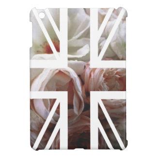 Vintage White Rose Union Jack British(UK) Flag iPad Mini Cover