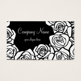 Vintage white roses Business Card