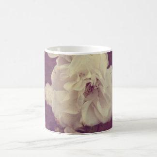 Vintage White Roses,Purple Filter Coffee Mug