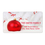 """Vintage White Snow Glitter Christmas Holiday Label<br><div class=""""desc"""">This is Christmas Holiday return address label design. This design feature is a gold handwritten font with scroll frame accents on a White Snow Glitter background with a rustic textured look. Custom return address text. Personalized address labels for all your mailings.</div>"""