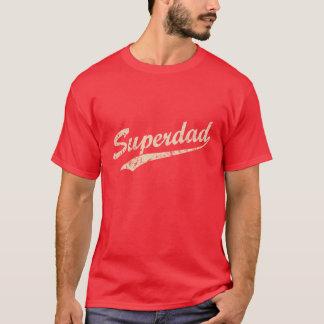 Vintage White Super Dad T-Shirt