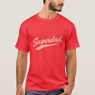 Vintage White Super Dad T-Shirt