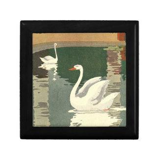 Vintage White Swans Gift Boxes