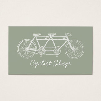 Vintage White Tandem Bicycle Business Card