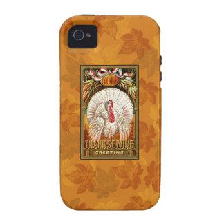 Vintage White Thanksgiving Turkey iPhone 4/4S Cases