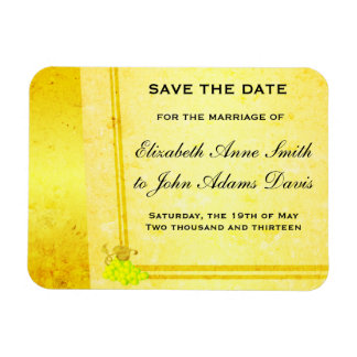Vintage White Wine Save the Date Magnet