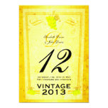 """Vintage White Wine Table Number Cards 5"""" X 7"""" Invitation Card"""