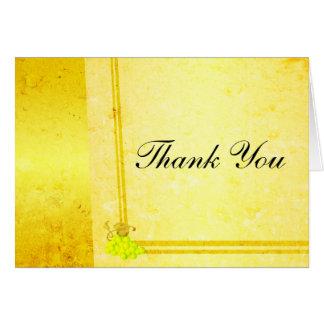 Vintage White Wine Thank You Card