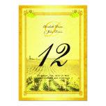 "Vintage White Wine Vineyard Table Number Cards 5"" X 7"" Invitation Card"