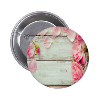 vintage white wood wall pink roses, shabby chic pins