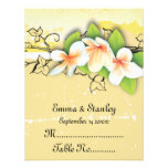 Vintage white yellow plumeria ivy place card personalized announcement