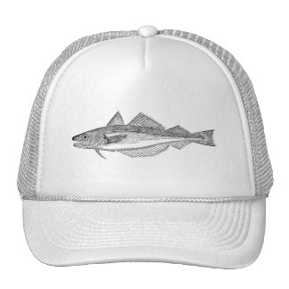 Vintage Whiting Fish - Aquatic Fishes Template Trucker Hat